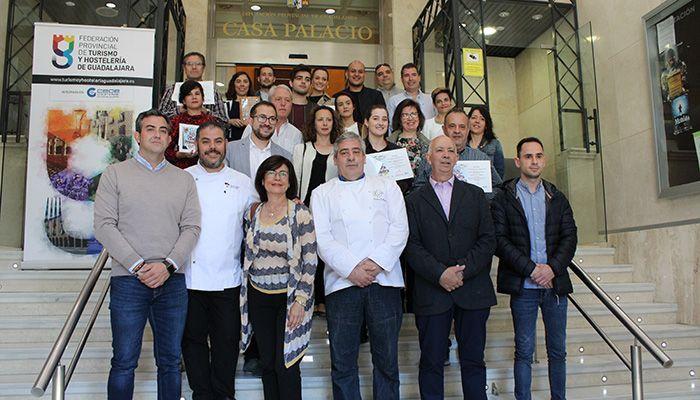 Entregados los premios del concurso de la Ruta de la Tapa de Primavera 2019 de la Federación de Turismo y Hostelería de Guadalajara
