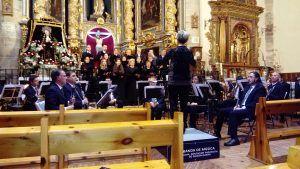 La Banda de la Diputación de Guadalajara y el coro Novi Cantores ofrecieron dos solemnes conciertos en Guadalajara capital y en Atienza