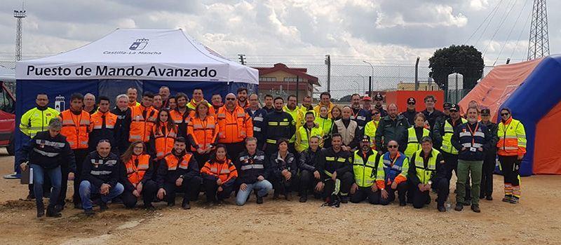 La Consejería de Hacienda y Administraciones Públicas coordina los trabajos de un simulacro de incendio en el almacenamiento subterráneo de Gas Natural de Yela