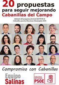 Salinas firma ante notario el programa base del PSOE de Cabanillas para el 26M