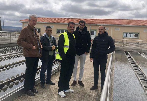 Una delegación de Jordania se interesa por el trabajo realizado en la potabilizadora de la MAS