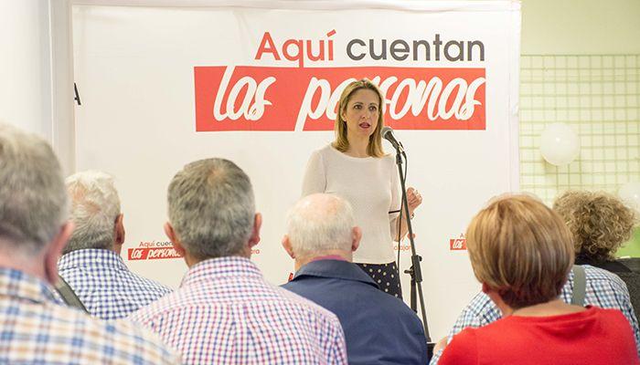 """Cristina Maestra asegura en Marchamalo que """"votar al PSOE es preservar la esencia de Europa"""""""