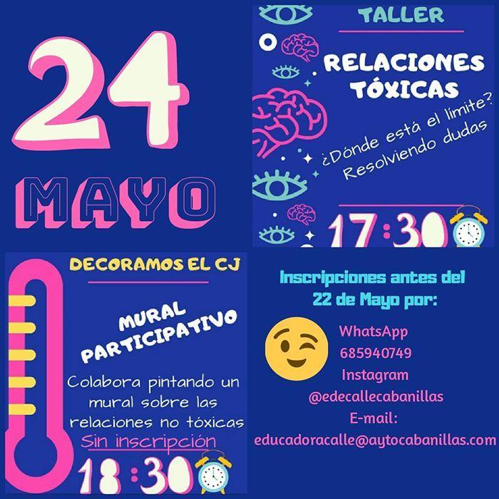 El Ayuntamiento de Cabanillas  programa un taller sobre relaciones tóxicas dirigido a adolescentes