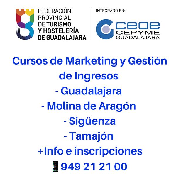 La Federación de Turismo y Hostelería de Guadalajara programa cuatro nuevos cursos formativos