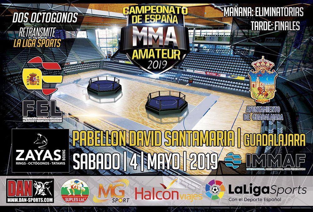 Más de 200 participantes se dan cita en el Campeonato de España  Senior de MMA  Amateur en el David Santamaría de Guadalajara