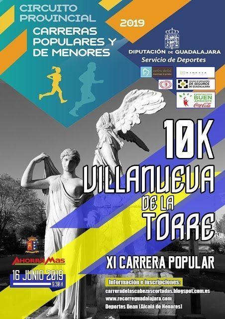 El domingo 16 se celebrará XI Carrera Popular de Villanueva de la Torre, quinta prueba del Circuito Diputación de Guadalajara