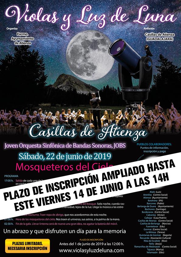 La gala Violas y Luz de Luna, que se celebrará en Casillas de Atienza amplía el plazo de inscripción hasta este viernes 14 de junio