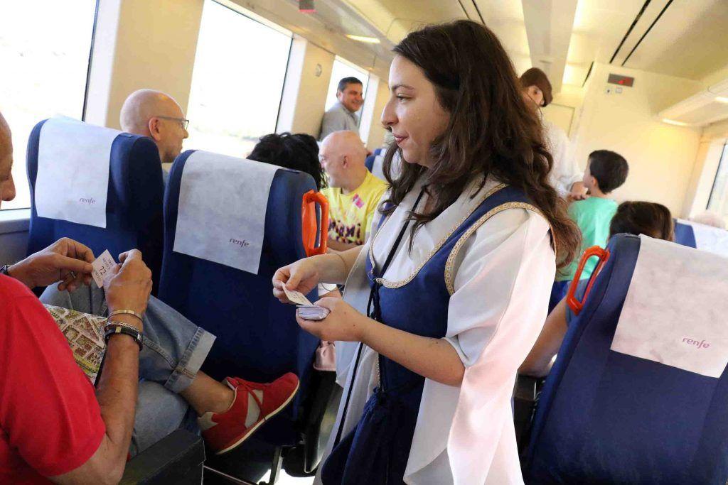 El Tren Medieval a Sigüenza sigue siendo un estandarte turístico de la Ciudad del Doncel