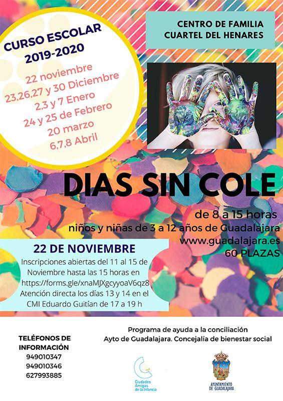 Guadalajara abre el plazo de inscripciones para la actividad Días sin Cole del próximo 22 de noviembre
