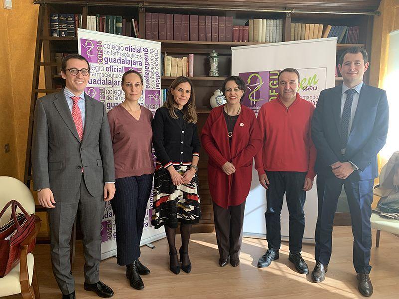 Valerio y Zapata se reúnen con el Colegio  Oficial de Farmecéuticos de Guadalajara