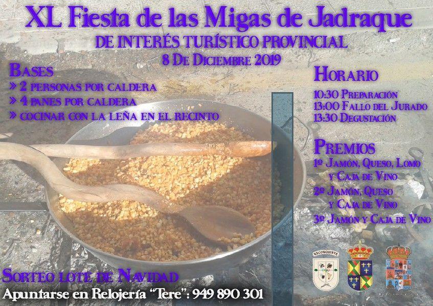 Jadraque se prepara para la XL Fiesta de las Migas, el domingo 8 de diciembre