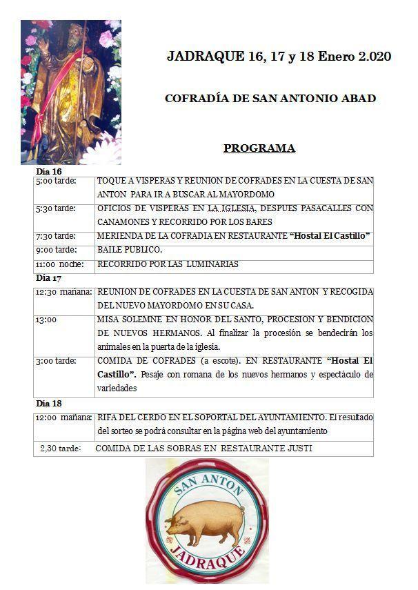 La Fiesta de San Antón de Jadraque  bate récord de participación y estrena década, la octava, ininterrumpida