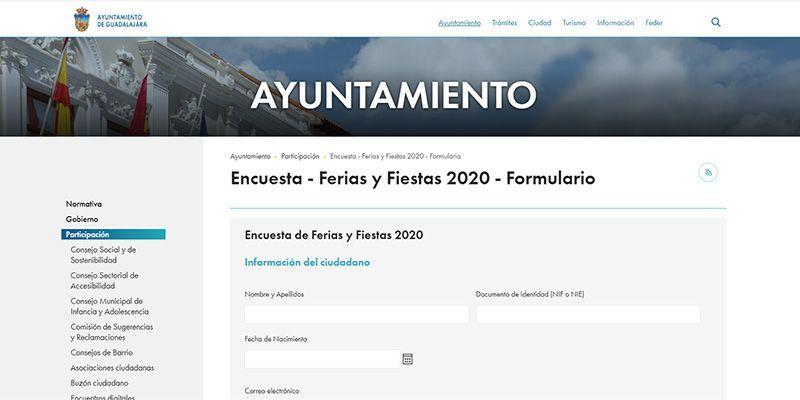 Últimos días para participar en la encuesta sobre el modelo actual de Ferias y Fiestas de Guadalajara