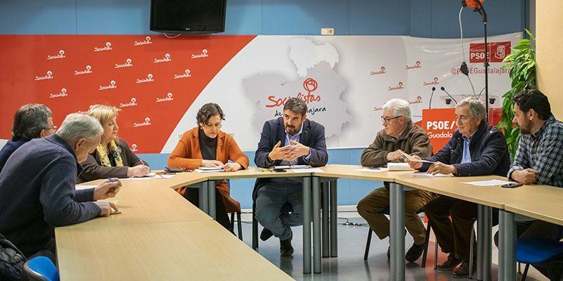 Parlamentarios del PSOE de Guadalajara mantienen una reunión con organizaciones agrarias de la provincia