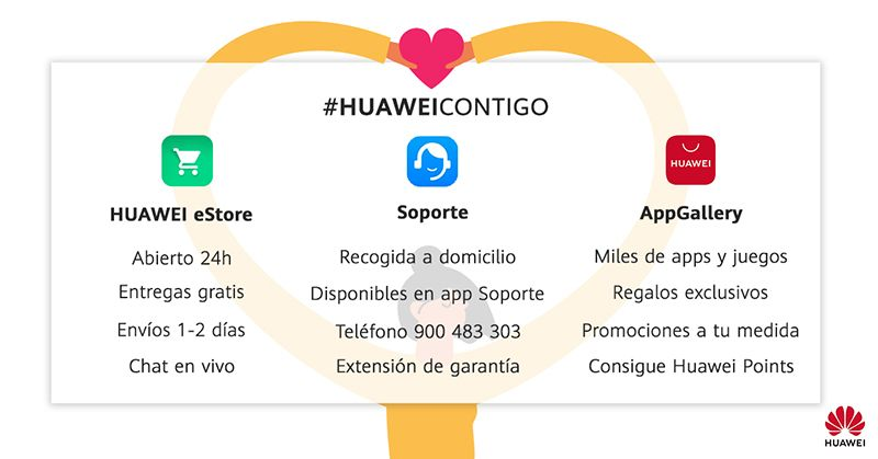Huawei acompaña a sus clientes en estos momentos con acciones englobadas en su concepto #HuaweiContigo