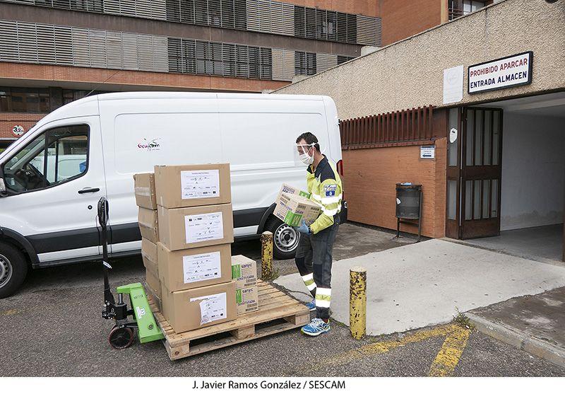 La GAI de Guadalajara recibe un nuevo cargamento con más de 32.000 elementos para la protección de los profesionales