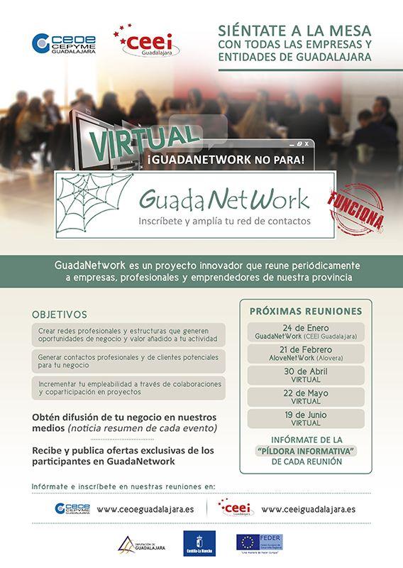 El próximo encuentro de Guadanetwork virtual tendrá lugar el viernes 22 de mayo a las 1000 horas