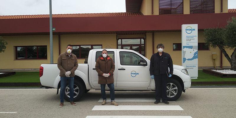 Enagás dona un nuevo vehículo para Protección Civil de Brihuega, una pickup que será carrozada con la colaboración de La Caixa