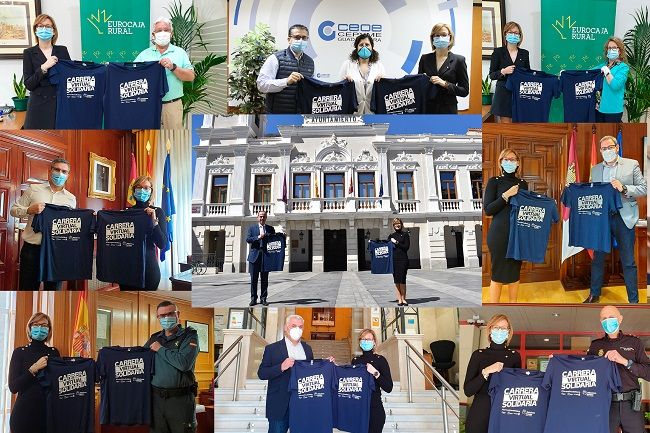 Masivo respaldo institucional en Guadalajara a la primera Carrera Solidaria de la Fundación Eurocaja Rural