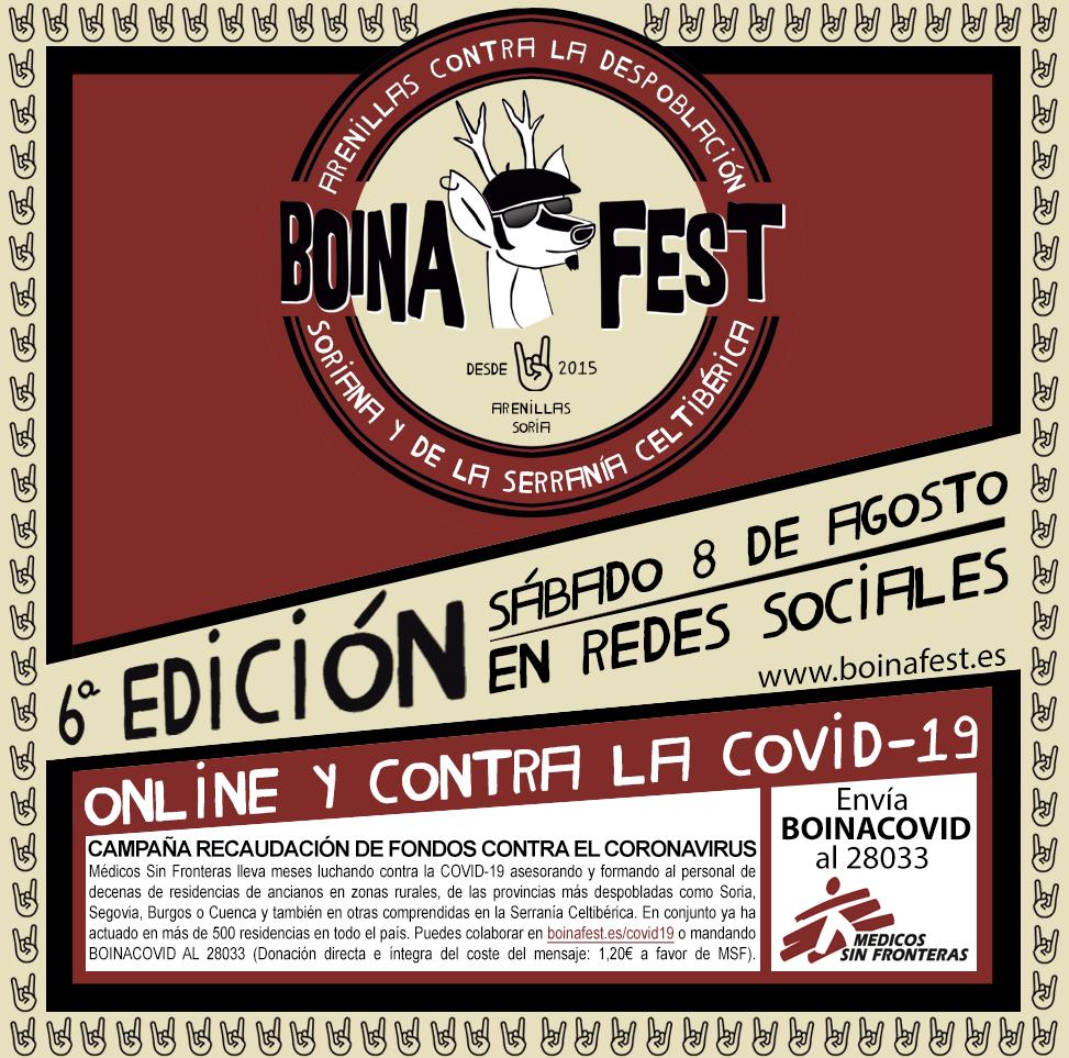El 1er festival contra la despoblación Boina Fest 2020 será online, convoca a artistas de las zonas más despobladas de Guadalajara y Cuenca y recaudará fondos contra el Coronavirus