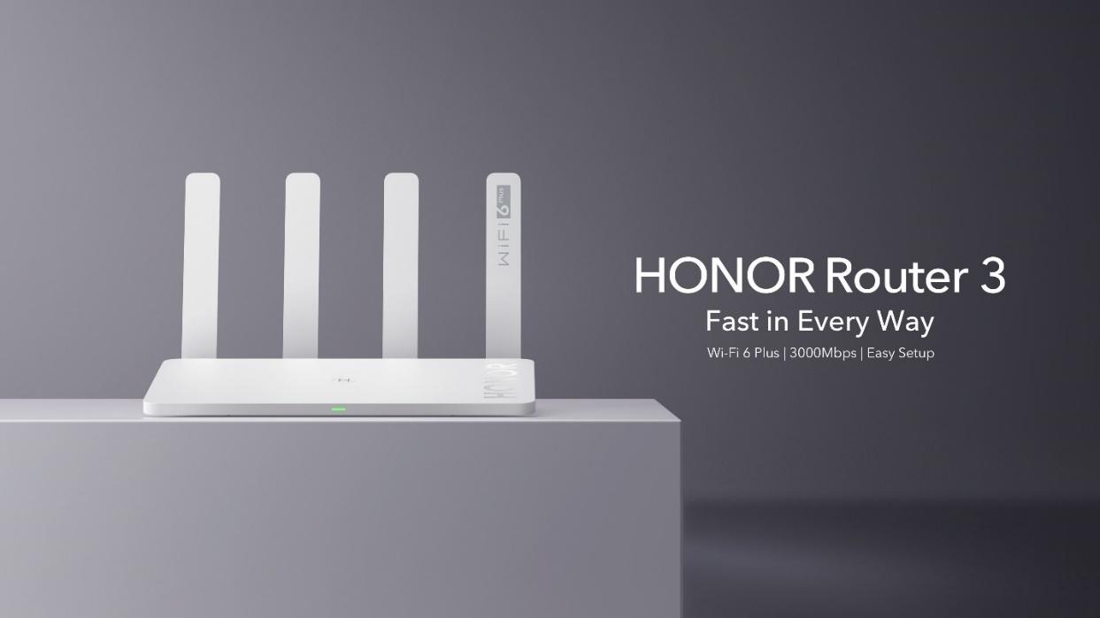 HONOR lanza el primer HONOR Router 3 con Wi-Fi 6 Plus