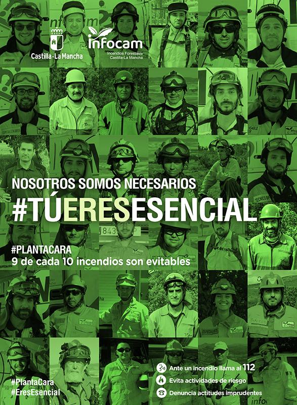 La Junta lanza la segunda fase de la campaña de sensibilización contra incendios forestales destacando la labor imprescindible de los integrantes del dispositivo INFOCAM