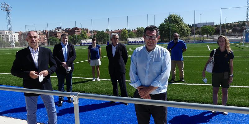Los campos de fútbol Fuente de la Niña, sede del campus de la Fundación Real Madrid, con becas a menores con dificultades sociales