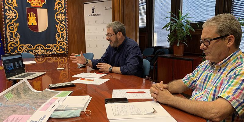 Robles se reúne con el presidente de la Confederación Hidrográfica del Tajo para trasladarle las inquietudes y demandas de los municipios de Guadalajara