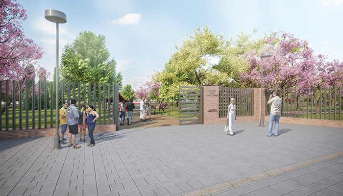 Se retoman los trabajos de ajardinamiento en el Parque Elena de la Cruz de Cabanillas, en los nuevos desarrollos