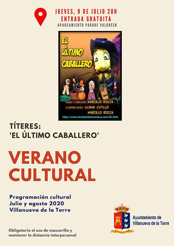 Títeres, cuentacuentos familiar y actividades para jóvenes, los actos de esta semana en el 'Verano Cultural' de Villanueva de la Torre