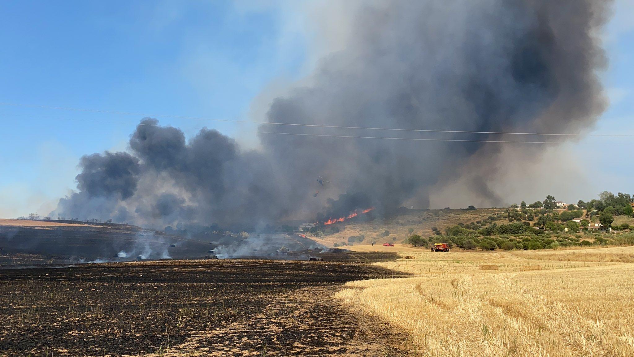Activada la intervención de la Unidad Militar de Emergencias (UME) en incendio de El Casar