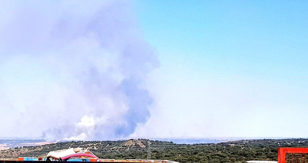 El incendio en El Casar ya es de nivel 1 y trabajan en él 19 medios y 80 personas