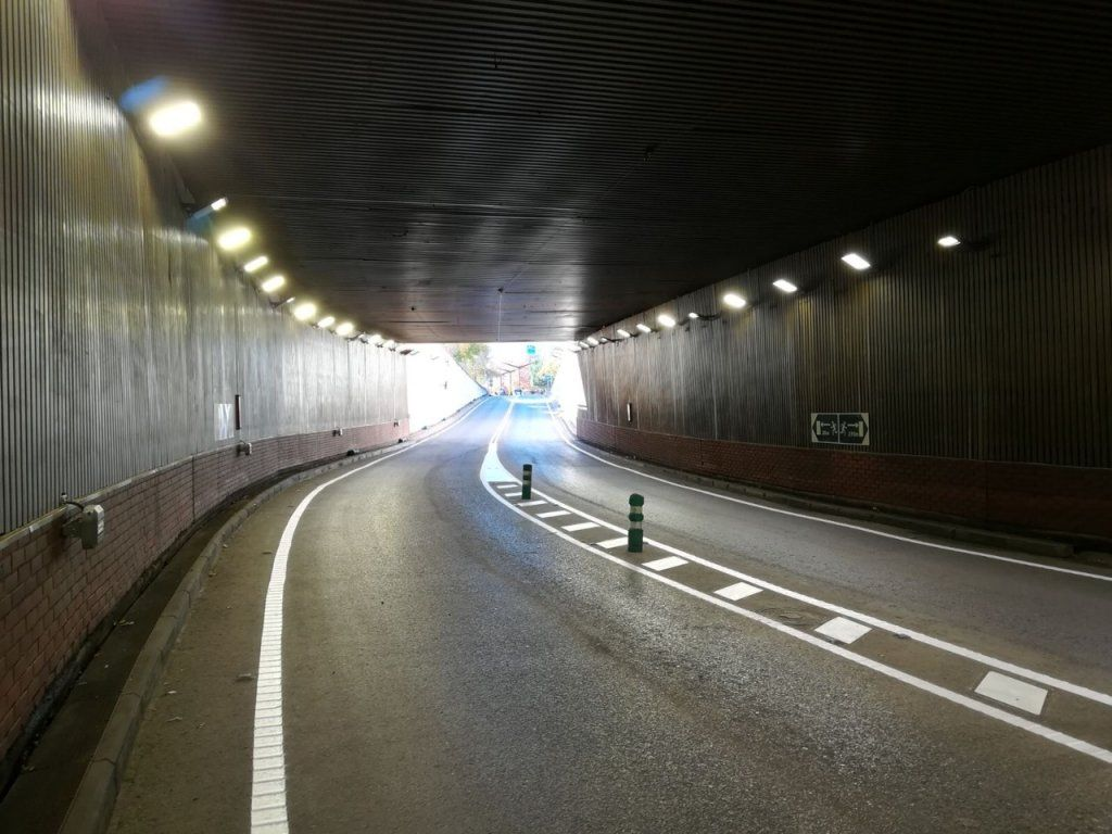 El túnel de Aguas Vivas se cierra esta noche al tráfico entre las 0000 y las 0500 horas del jueves para someterse a labores de limpieza