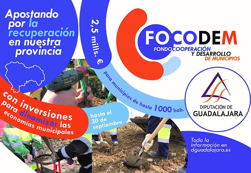 La Diputación de Guadalajara concederá este martes 3 millones de euros a los pueblos de la provincia