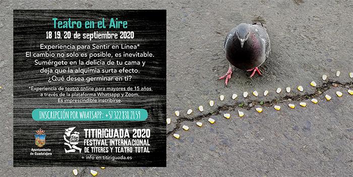 El Ayuntamiento de Guadalajara recupera el Titiriguada con una actividad de teatro online los días 18, 19 y 20 de septiembre