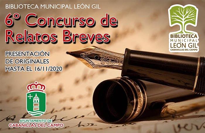 La Biblioteca León Gil de Cabanillas convoca la sexta edición de su Concurso de Relatos Breves