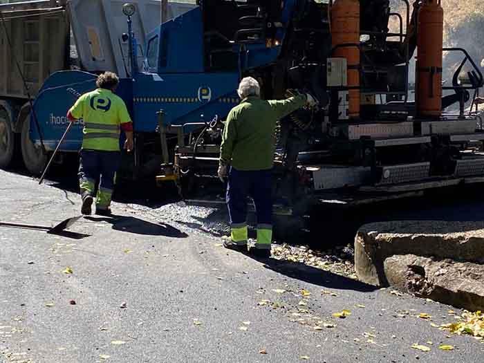 Operación asfalto, en el Barrio de las Malvinas de Sigüenza