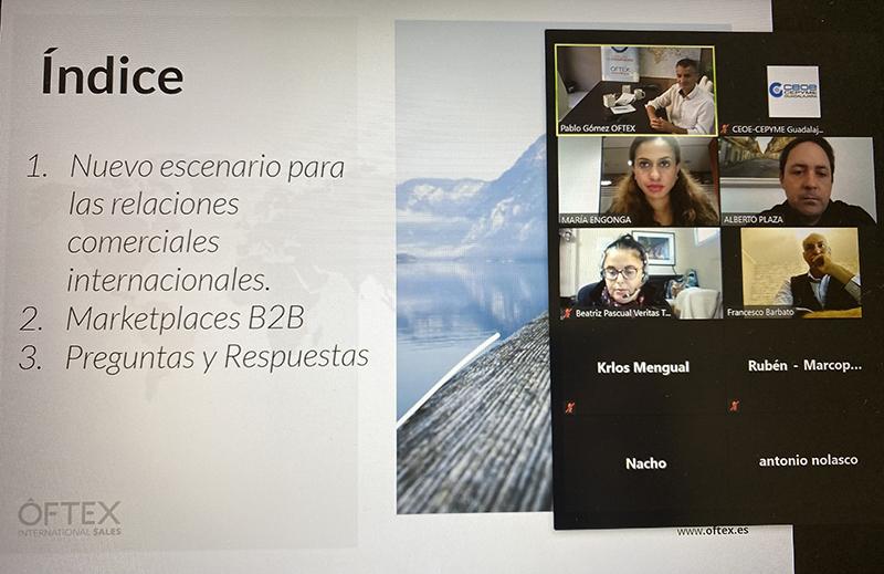 CEOE-Cepyme Guadalajara organiza una nueva jornada virtual de comercio exterior