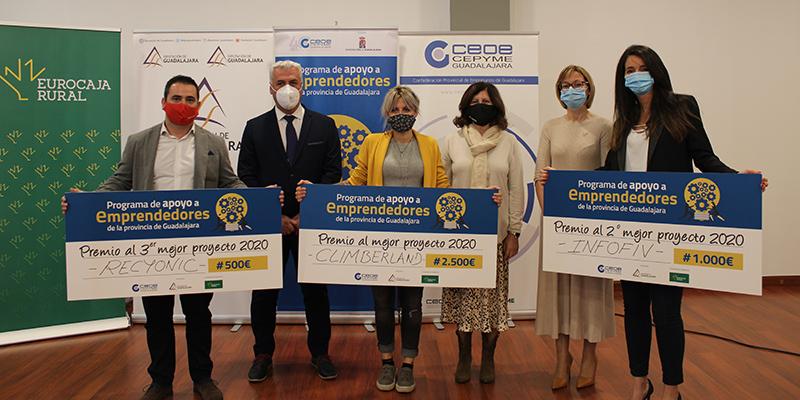 Climberland, ganador de la tercera edición del Programa de Apoyo a Emprendedores de la provincia de CEOE-Cepyme Guadalajara y la Diputación provincial