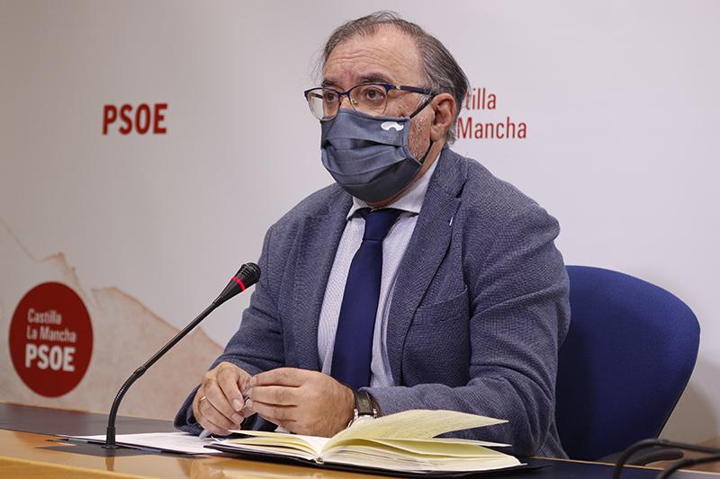 """Mora destaca el informe europeo que valora el esfuerzo de CLM contra la COVID-19 y denuncia el uso que hace el PP """"de la tragedia"""""""