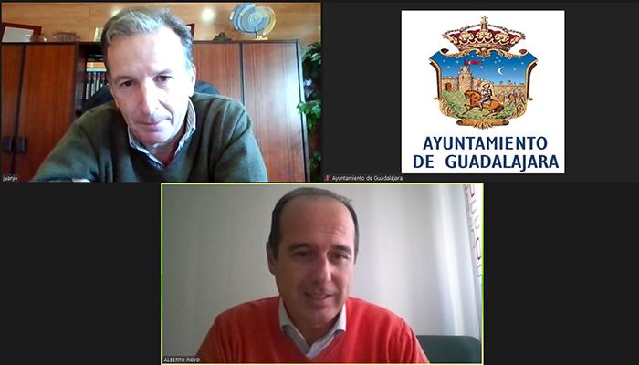 Alberto Rojo y Juan José Laso reafirman el compromiso y la voluntad de colaboración entre APAG y el Ayuntamiento de Guadalajara