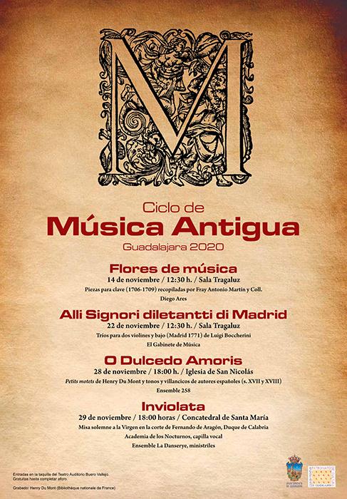 El Ayuntamiento de Guadalajara organiza un nuevo ciclo de Música Antigua, religiosa y profana de cámara, con   artistas de renombre internacional
