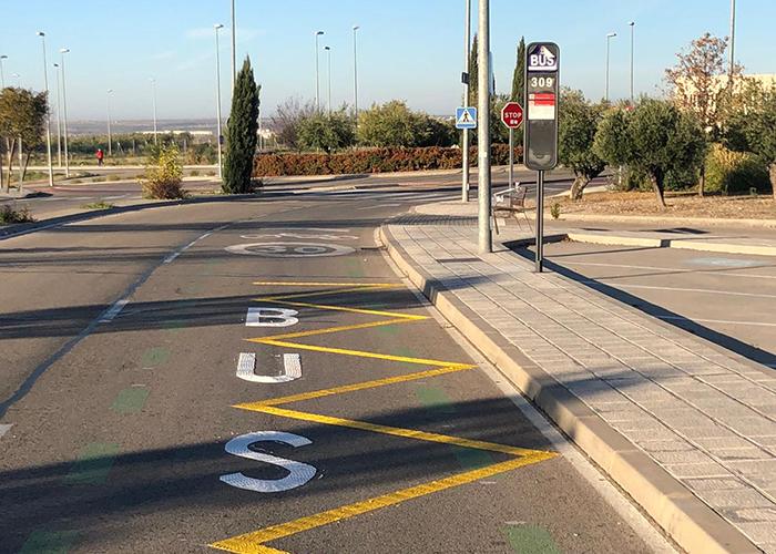 En marcha la nueva parada del servicio urbano de autobús junto a los nuevos juzgados de Guadalajara