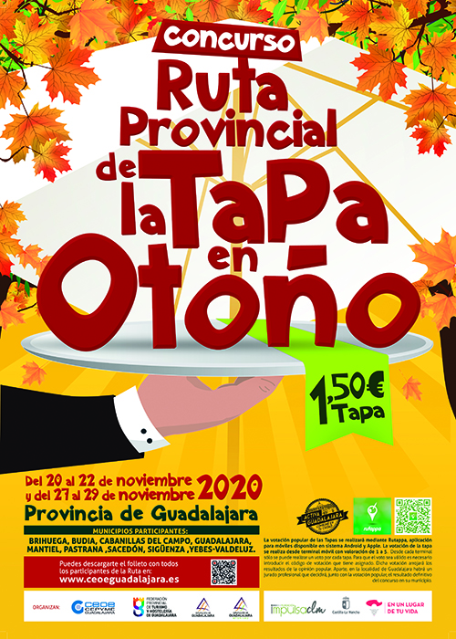 La ruta de la tapa de otoño de Guadalajara vuelve los fines de semana del 20 al 22 y del 27 al 29 de noviembre