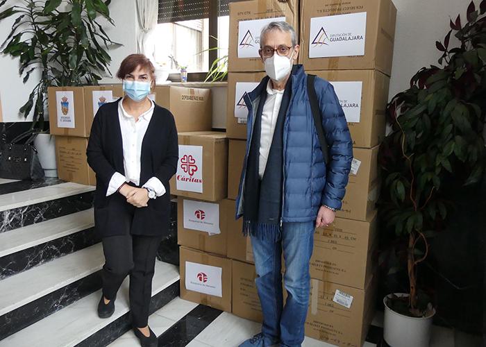 La Subdelegación del Gobierno de Guadalajara distribuye 62.000 mascarillas para ayuntamientos y entidades sociales