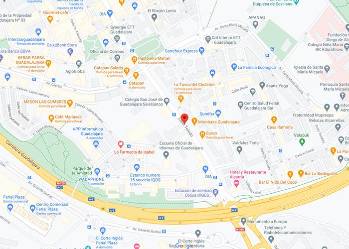 Buena parte de la calle Toledo de Guadalajara cierra al tráfico a partir del 26 de diciembre para la instalación de la cabalgata estática