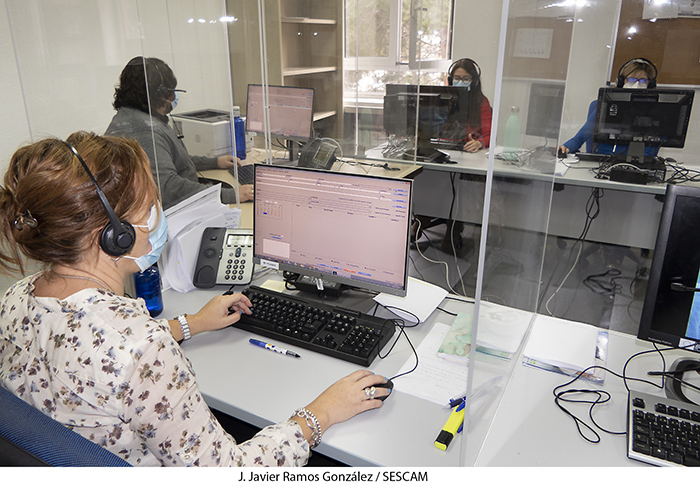 El call center para la gestión de citas de Atención Primaria ha aumentado la capacidad de atención telefónica en Guadalajara un 58 por ciento