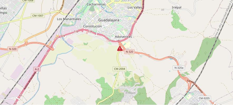 Fallece una mujer de 101 años en un accidente de tráfico en Guadalajara y cinco personas resultan heridas