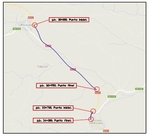 Aprobado el proyecto de rehabilitación del firme en la carretera N-211 entre Mazarete y Anquela del Ducado
