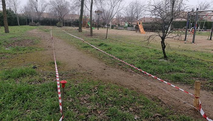 Comienzan los trabajos para la remodelación de varios parques en Villanueva de la Torre